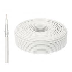 Przewód kabel koncentryczny antenowy RG6U CCS 100m