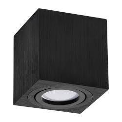 Oprawa natynkowa LED ALUMINIUM kwadratowa ruchoma czarna + gniazdo GU10