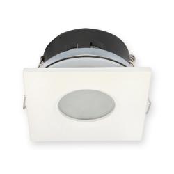 Oprawa halogenowa LED kwadratowa stała hermetyczna IP65 w kolorze białym matowym