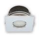 Oprawa halogenowa LED kwadratowa stała hermetyczna IP65 w kolorze chromu