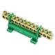 Mostek zerowy listwa zaciskowa złączka 12P na szynę kolor zielony