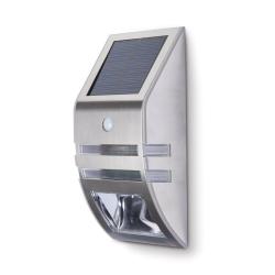 Lampa ogrodowa zewnętrzna elewacyjna solrana z czujnikiem ruchu