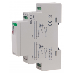 F&F Przekaźnik impulsowy bistabilny włącz-wyłącz 16A 230V AC 1P BIS-411