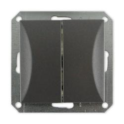 TIMEX OPAL Wyłącznik łącznik podwójny MODUŁ DO RAMKI w kolorze grafitowym