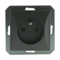 TIMEX OPAL Gniazdo pojedyncze z uziemieniem do ramki grafitowe GPt-16/m Op GR