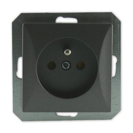 TIMEX OPAL Gniazdo pojedyncze uziemione MODUŁ DO RAMKI w kolorze grafitowym