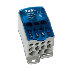 XBS Blok rozdzielczy mostek na szynę 95-120mm 250A FVKK-120