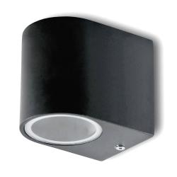 Lampa ogrodowa elewacyjna 1xGU10 dół półokrągła czarna