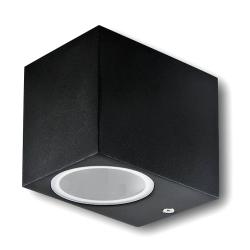 Lampa ogrodowa elewacyjna 1xGU10 dół prostokątna czarna