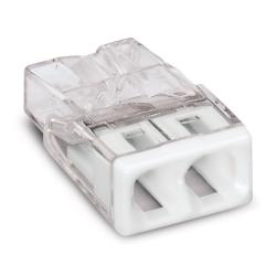 WAGO Szybkozłączka na drut 2x0,5-2,5mm² transparentna 2273-202 10szt.