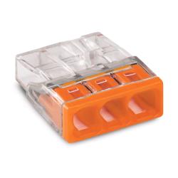 WAGO Szybkozłączka na drut 3x0,5-2,5mm² transparentna 2273-203 10szt.