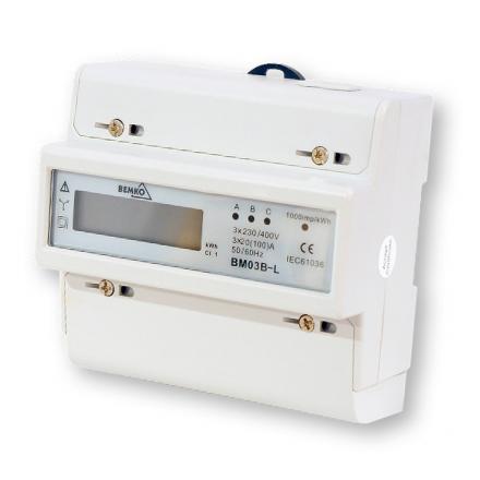 Bemko Licznik energii elektrycznej na szynę cyfrowy 3F 20(100)A BM03B-L