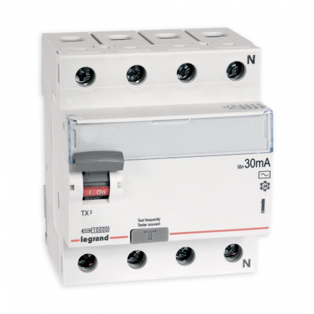 Legrand Wyłącznik różnicowoprądowy 4P 25A 0,03A typ AC P304 TX3 411707
