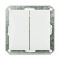 TIMEX OPAL Wyłącznik łącznik podwójny do ramki biały WP-2/m Op BI
