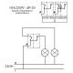 TIMEX OPAL Wyłącznik łącznik podwójny świecznikowy - schemat podłączenia
