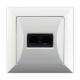 TIMEX OPAL Gniazdo komputerowe 2xRJ-45 w kolorze białym
