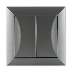 TIMEX OPAL Wyłącznik schodowy podwójny grafit WP-5/2 GR