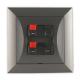 TIMEX OPAL Gniazdo głośnikowe kolumnowe podwójne grafitowe