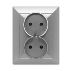 TIMEX OPAL Gniazdo podwójne  w kolorze srebrnym