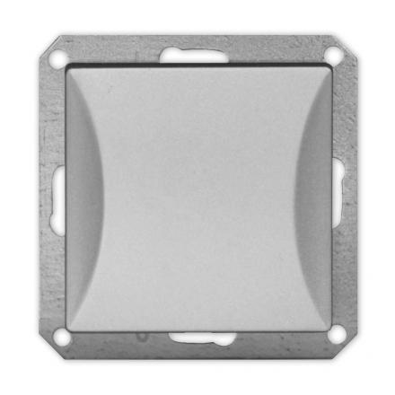 TIMEX OPAL Wyłącznik łącznik pojedynczy MODUŁ DO RAMKI w kolorze srebrnym