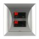 TIMEX OPAL Gniazdo głośnikowe kolumnowe podwójne srebrne
