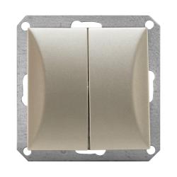 TIMEX OPAL Wyłącznik łącznik podwójny do ramki satyna WP-2/m Op PI