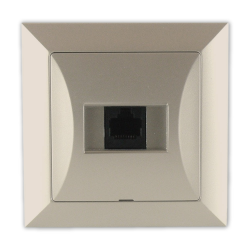 TIMEX OPAL Gniazdo komputerowe RJ45 8pin zacisk krone LSA+ satyna GTP - 12Op PI