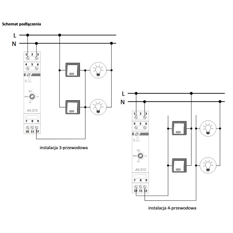 Ff Automat Schodowy 16a 05 10min 230v Ac As 212 Eelektrykacom
