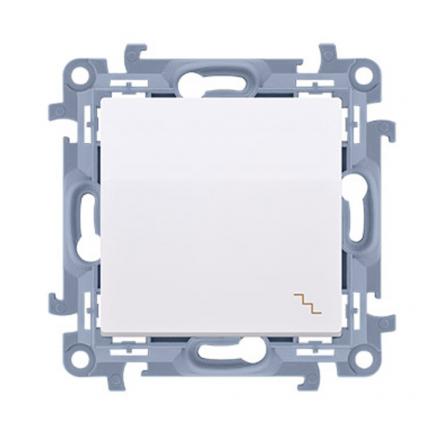 SIMON 10 Wyłącznik łącznik pojedynczy schodowy do ramki biały CW6.01/11