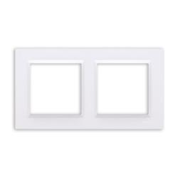 SIMON 10 Ramka podwójna biała CR2/11