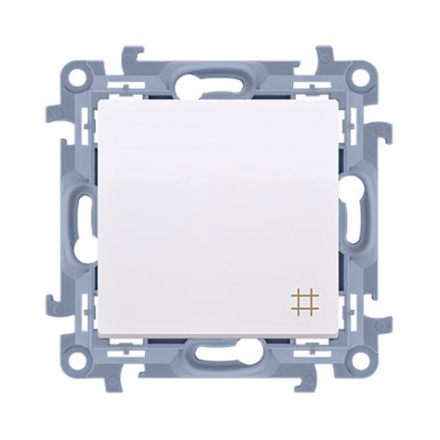 SIMON 10 Wyłącznik łącznik pojedynczy krzyżowy do ramki biały CW7.01/11