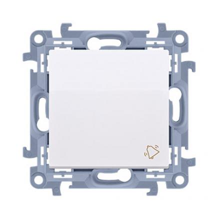 """SIMON 10 Wyłącznik łącznik zwierny """"dzwonek"""" do ramki biały CD1.01/11"""
