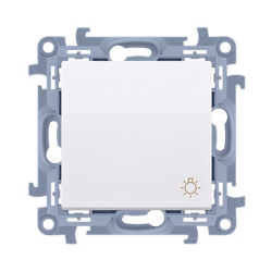"""SIMON 10 Wyłącznik łącznik zwierny """"światło"""" do ramki biały CS1.01/11"""