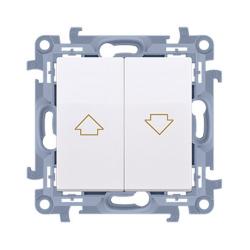 SIMON 10 Wyłącznik łącznik żaluzjowy zwierny do ramki biały CZP1.01/11