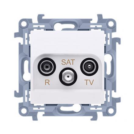 SIMON 10 Gniazdo antenowe RTV-SAT do ramki białe CASK.01/11