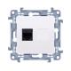 SIMON 10 Gniazdo telefoniczne RJ11 do ramki białe CT1.01/11