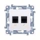SIMON 10 Gniazdo komputerowo-telefoniczne RJ45+RJ11 do ramki białe C6T.01/11
