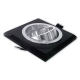 Oprawa oprawka halogenowa kwadratowa ruchoma szkło czarna