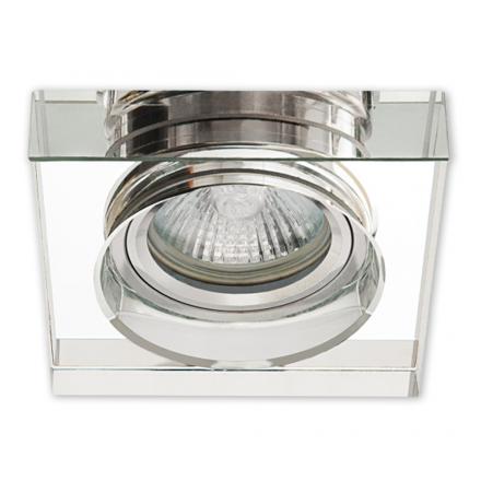 Oprawa oprawka halogenowa kwadratowa stała szkło grube clear