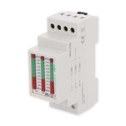 F&F Wskaźnik napięcia modułowy lampki LED woltomierz 3-fazy 200-250V AC WN-723