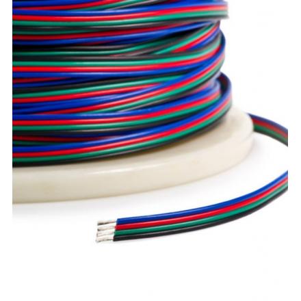 Przewód kabel do taśmy LED RGB 12V 4x0,35mm 100mb
