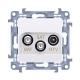 SIMON 10 Gniazdo antenowe RTV-SAT-SAT podwójne do ramki białe CASK2.01/11
