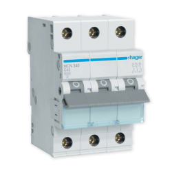 HAGER Wyłącznik nadprądowy 3P C40A MCN340E