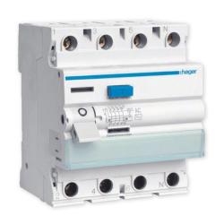 HAGER Wyłącznik różnicowoprądowy 4P 63A 0,03A typ AC CDC463J