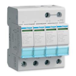 HAGER Ogranicznik ochronnik przepięć T2 4P sieć TN-S SPN415