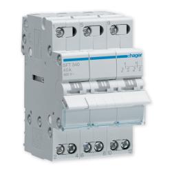 HAGER Przełącznik instalacyjny wyboru zasilania sieci 3P 40A 400V SFT340