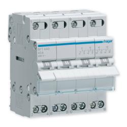 HAGER Przełącznik modułowy wyboru zasilania sieci 4P 40A 400V SFT440