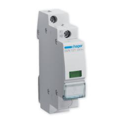 HAGER Lampka sygnalizacyjna LED zielona 230V SVN121