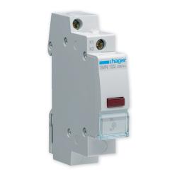 HAGER Lampka sygnalizacyjna LED czerwona 230V SVN122