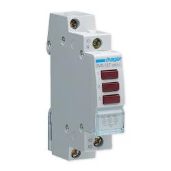 HAGER Lampka sygnalizacyjna LED 3x czerwona 3F 230V SVN127